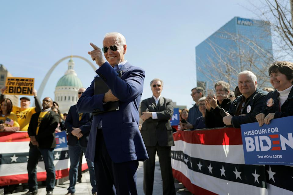 Joe Biden really does have his super fans. (Photo: Jeff Roberson/Associated Press)