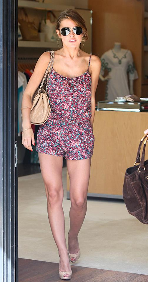"""Love her or hate her (or her show, """"The Hills""""), there's no denying Audrina Patridge's trendsetting ability. Ladies, take note: rompers are in this summer ... as are Chanel handbags, which never go out of style. <a href=""""http://www.x17online.com"""" target=""""new"""">X17 Online</a> - May 13, 2010"""