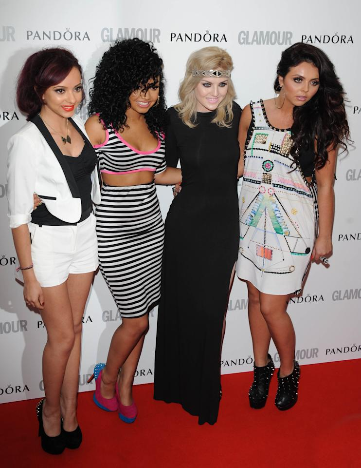 LONDON, UNITED KINGDOM - MAY 29: Jade Thirwell, Leigh-Anne Pinnock, Perrie Edwards and Jesy Nelson of 'Little Mix' attend Glamour Women of the Year Awards 2012 at Berkeley Square Gardens on May 29, 2012 in London, England. (Photo by Stuart Wilson/Getty Images)
