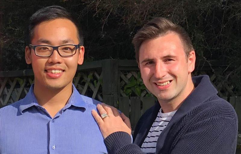 Jerome Pacquing (left) and Ryan Curran will not have access subsidised IVF as the rebate is not available to same-sex couples in New Zealand. Source: Almost Dad's Ryan & Jerome / Facebook