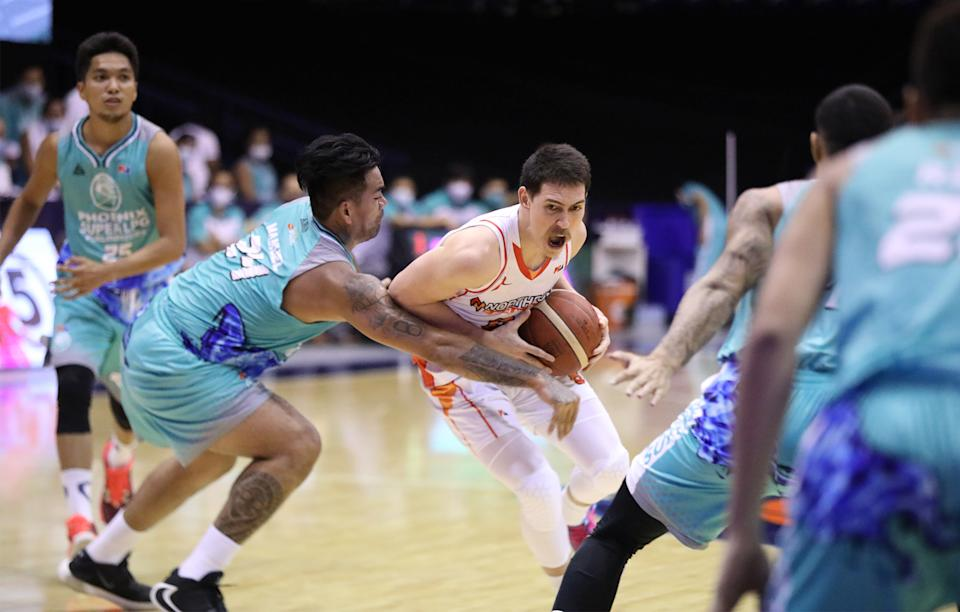 Robert Bolick spearheads NorthPort's romp of Phoenix in the 2021 PBA Philippine Cup. (Photo: PBA Images)