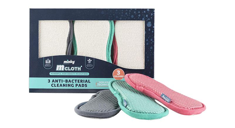 Minky M Cloth Anti-Bacterial Cleaning Pad 3 Pack