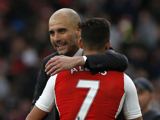 Pep Guardiola calls on his Manchester City players to focus on football amid talk of Alexis Sanchez transfer