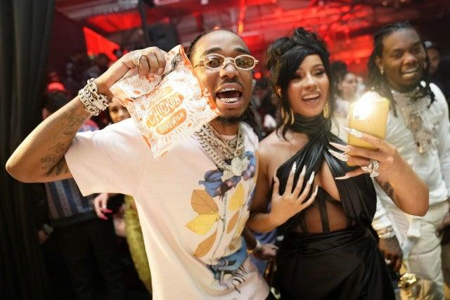 Quavo, Cardi B and Offset at Offset's Birthday with Uber Eats