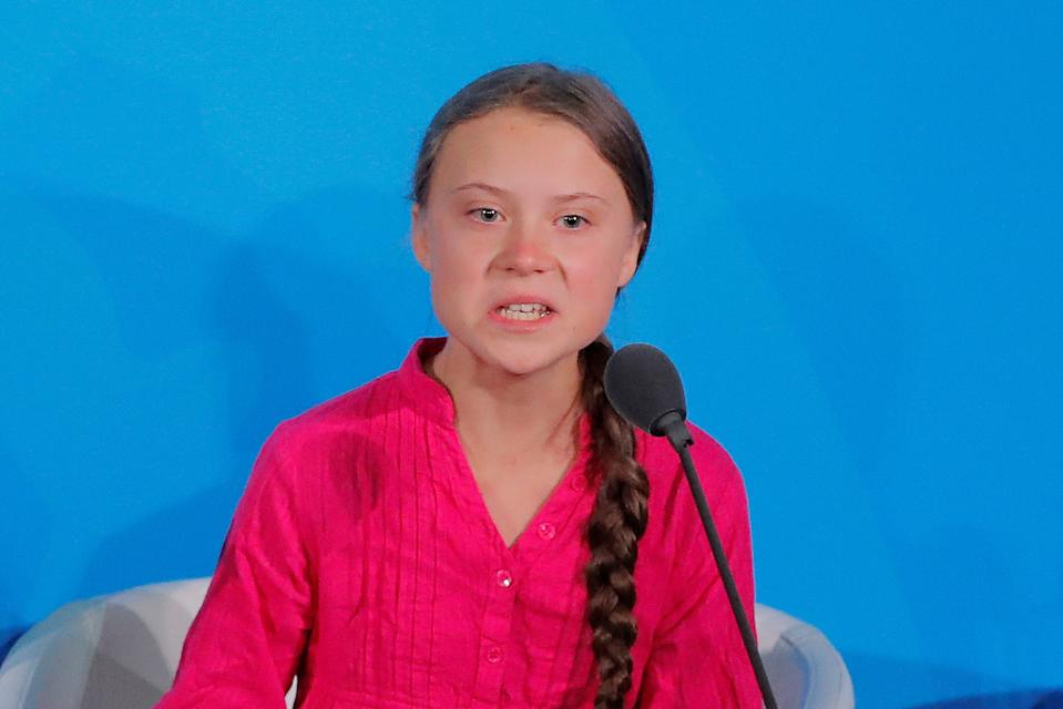 Climate activist Greta Thunberg made an impassioned speech at the UN (Picture: Reuters)