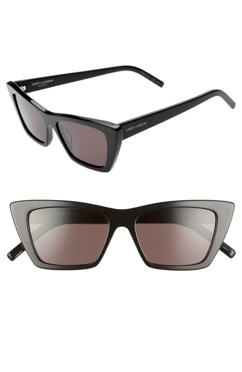 <p>Make a statement in these cool <span>Saint Laurent 53mm Cat Eye Sunglasses</span> ($380). They're a modern take on a cat eye, and we are into it.</p>