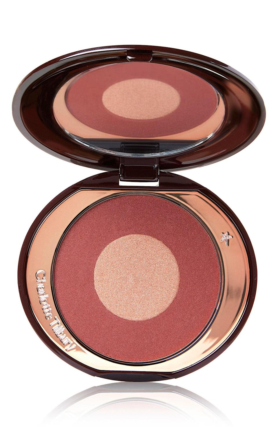 """<p><strong> The Product: </strong> <span>Charlotte Tilbury Cheek to Chic Blush</span> ($40)</p> <p><strong> The Rating: </strong> 4.5 stars </p> <p><strong> Why Customers Love It: </strong> Reviewers rave that this blush"""" gives a healthy glow to thier complexion. It blends beautifully and layers well with other products."""" </p>"""