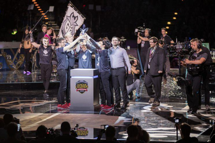 G2 Esports at their third consecutive EU LCS Grand final (lolesports)