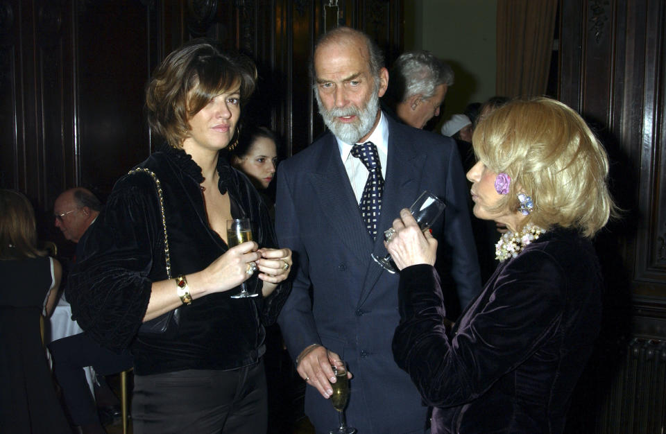 LONDON - FEBRUARY 8: (EMBARGOED FOR PUBLICATION IN UK TABLOID NEWSPAPERS UNTIL 48 HOURS AFTER CREATE DATE AND TIME)  (L-R) Former Deputy Editor of The Spectator Petronella Wyatt, Prince Michael of Kent and Lady Wyatt attend the book launch for historian Andrew Roberts new book