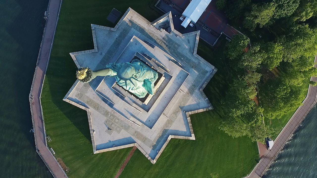 <p>Statue of Liberty in New York City, taken at 256 feet. (Caters News) </p>