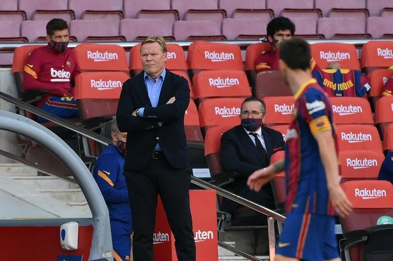 Barcelona coach Ronald Koeman will be hoping for a response when his team face Juventus in the Champions League on Wednesday