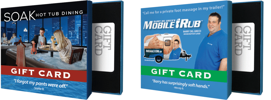 You can slip an actual, useful gift card into one of these phony, hilarious sleeves.