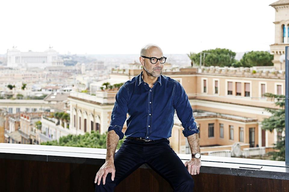 Director Stanley Tucci attends 'Final Portrait' photocall at Hotel Eden on February 5, 2018 in Rome, Italy.