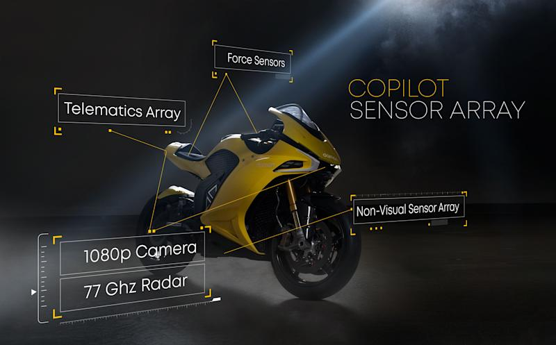 Damon Motorcycles Hypersport Sensors