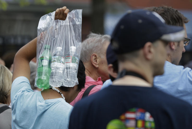 Hour-long lines on the way into the US Open