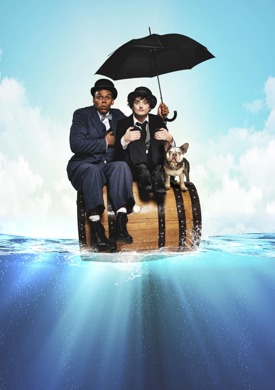 The comedy theatre production tells the story of the comedians Charlie Chaplin and Stan Laurel (Matt Crockett)