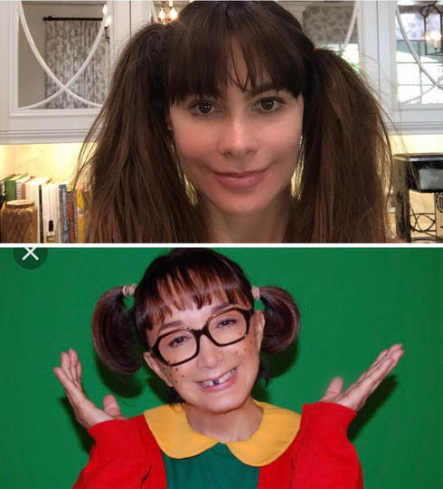 "<p>The <em>Modern Family</em> beauty paid homage to María Antonieta de las Nieves's Spanish-language children's show character La Chilindrina. Or as Vergara put it: ""I stole her look."" (Photo: <a href=""https://www.instagram.com/p/BWV9JPrA3JE/?taken-by=sofiavergara"" rel=""nofollow noopener"" target=""_blank"" data-ylk=""slk:Sofia Vergara via Instagram"" class=""link rapid-noclick-resp"">Sofia Vergara via Instagram</a>) </p>"