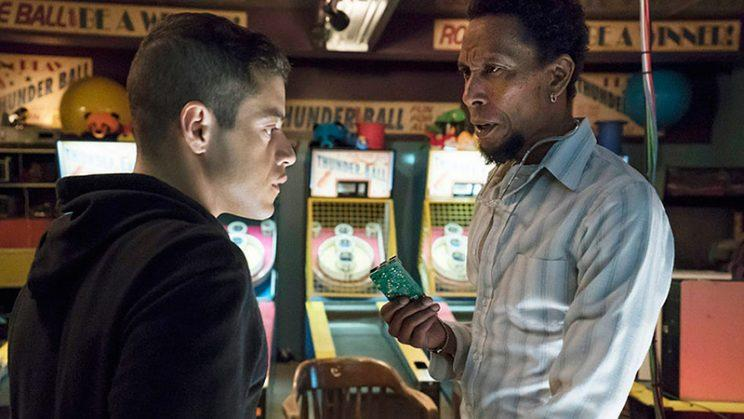Rami Malek and Ron Cephas Jones in 'Mr. Robot' (Photo: Virginia Sherwood / USA Network)