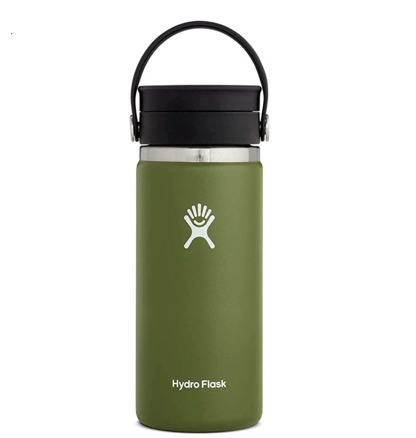 """<p><strong>Hydro Flask</strong></p><p>amazon.com</p><p><strong>$32.95</strong></p><p><a href=""""https://www.amazon.com/dp/B07G3VL32F?tag=syn-yahoo-20&ascsubtag=%5Bartid%7C1782.g.36865936%5Bsrc%7Cyahoo-us"""" rel=""""nofollow noopener"""" target=""""_blank"""" data-ylk=""""slk:BUY NOW"""" class=""""link rapid-noclick-resp"""">BUY NOW</a></p><p>Hydro Flask is known for their long-lasting water bottles, so this travel mug is great for hot coffees or teas and iced cold beverages too. Plus, there are tons of accessories available through Hydro Flask to personalize your drinking experience like straws, lids, and covers.</p>"""