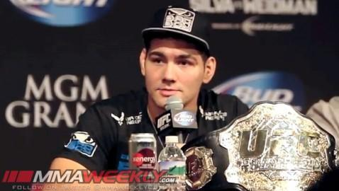 Chris Weidman Out of UFC 173 Due To Injury, Bout With Lyoto Machida Moved to July 5