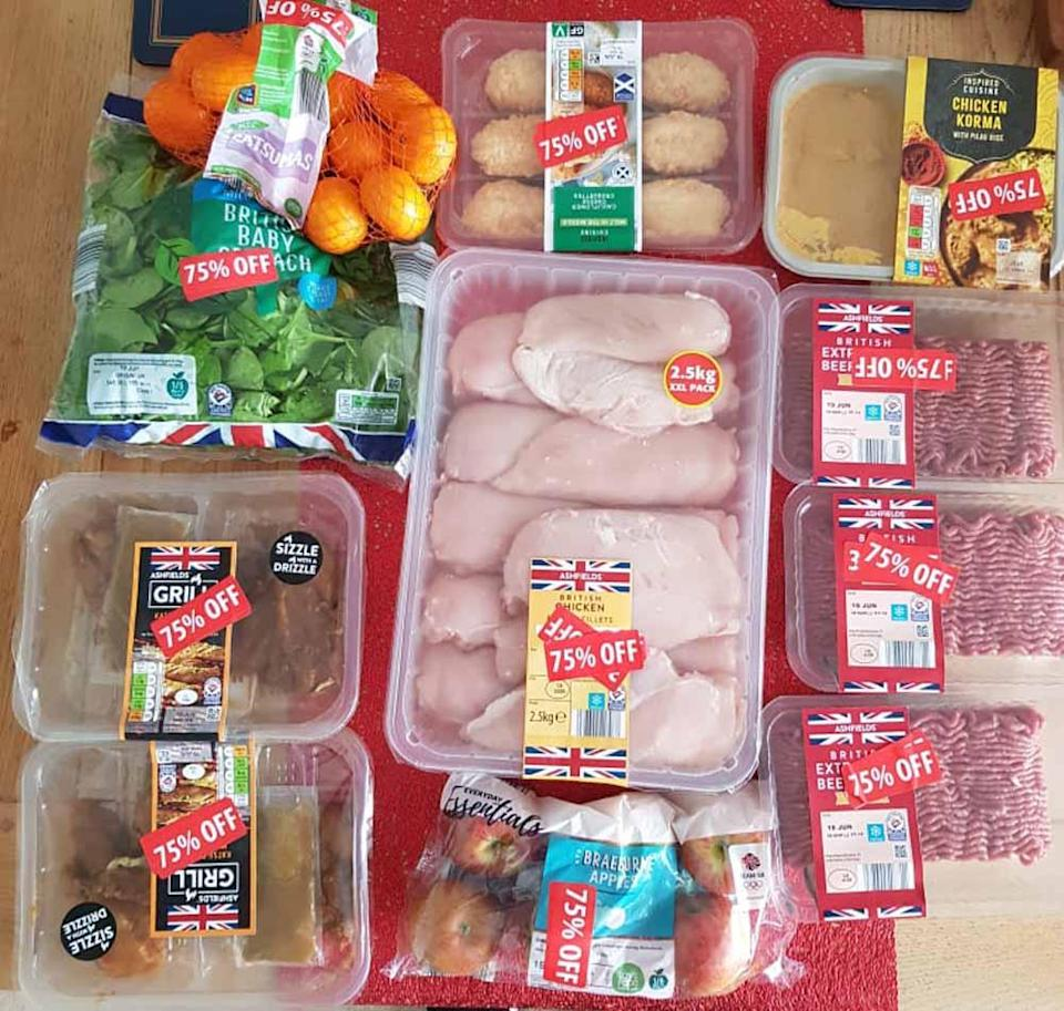 Meat, fruit and veg for 75pc off. PA REAL LIFE COLLECT