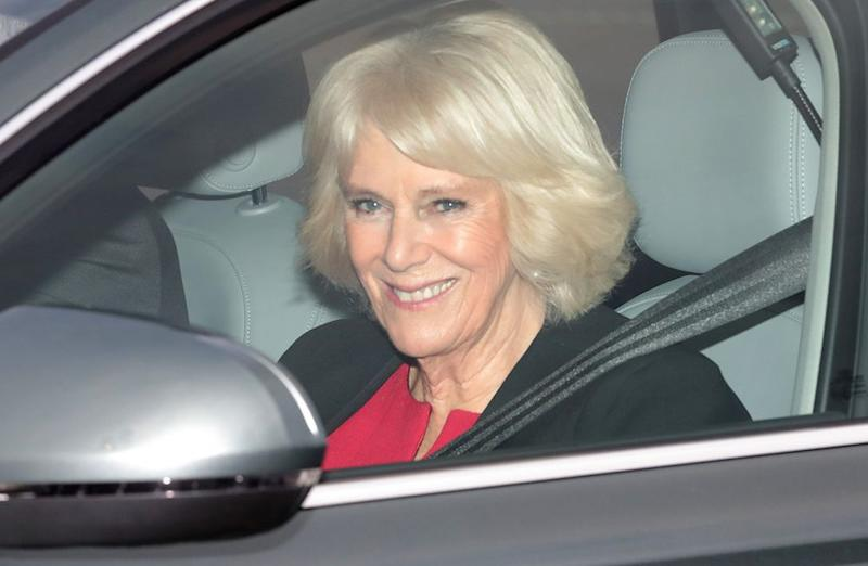 Camilla, Duchess of Cornwall arrives at Queen's Christmas lunch | Aaron Chown/PA Images/Getty