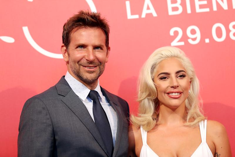 """The 75th Venice International Film Festival - Photocall for the film """"A Star is Born"""" out of competition - Venice, Italy, August 31, 2018 - Director and actor Bradley Cooper with actor Lady Gaga. REUTERS/Tony Gentile"""