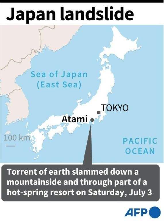 Atami reportedly recorded more rainfall in 48 hours than it usually does for the whole of July