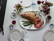 """This old <em>Gourmet</em> recipe is a classic for a reason. Serve with crispy potatoes and a green salad. <a href=""""https://www.epicurious.com/recipes/food/views/leg-of-lamb-with-garlic-and-rosemary-105020?mbid=synd_yahoo_rss"""" rel=""""nofollow noopener"""" target=""""_blank"""" data-ylk=""""slk:See recipe."""" class=""""link rapid-noclick-resp"""">See recipe.</a>"""
