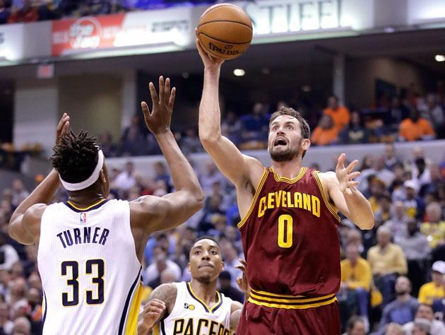 Kevin Love doesn't go for the extra point. (Getty Images)