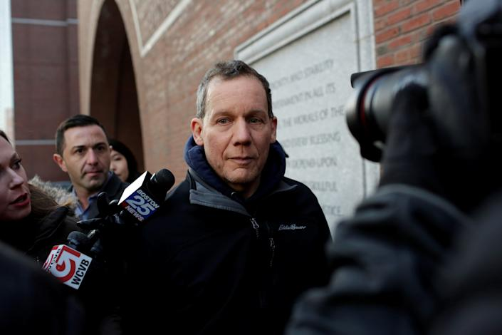 Charles Lieber leaves federal court he is charged with lying to the federal authorities in connection with aiding China, in Boston, Massachusetts, U.S. January 30, 2020. REUTERS/Katherine Taylor REFILE - CORRECTING LOCATION