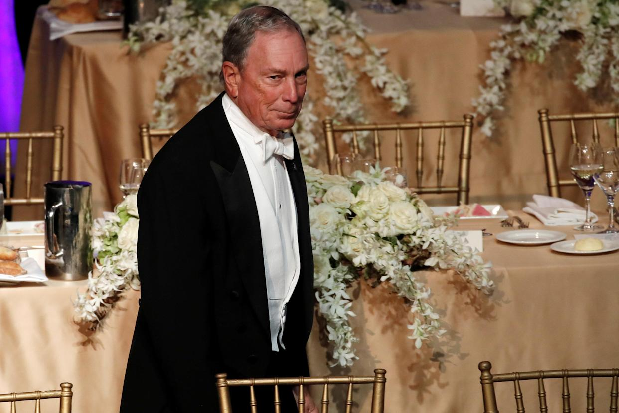 Former New York City Mayor Michael Bloomberg arrives for the 73rd Annual Alfred E. Smith Memorial Foundation Dinner in New York City, New York, October 18, 2018. REUTERS/Mike Segar