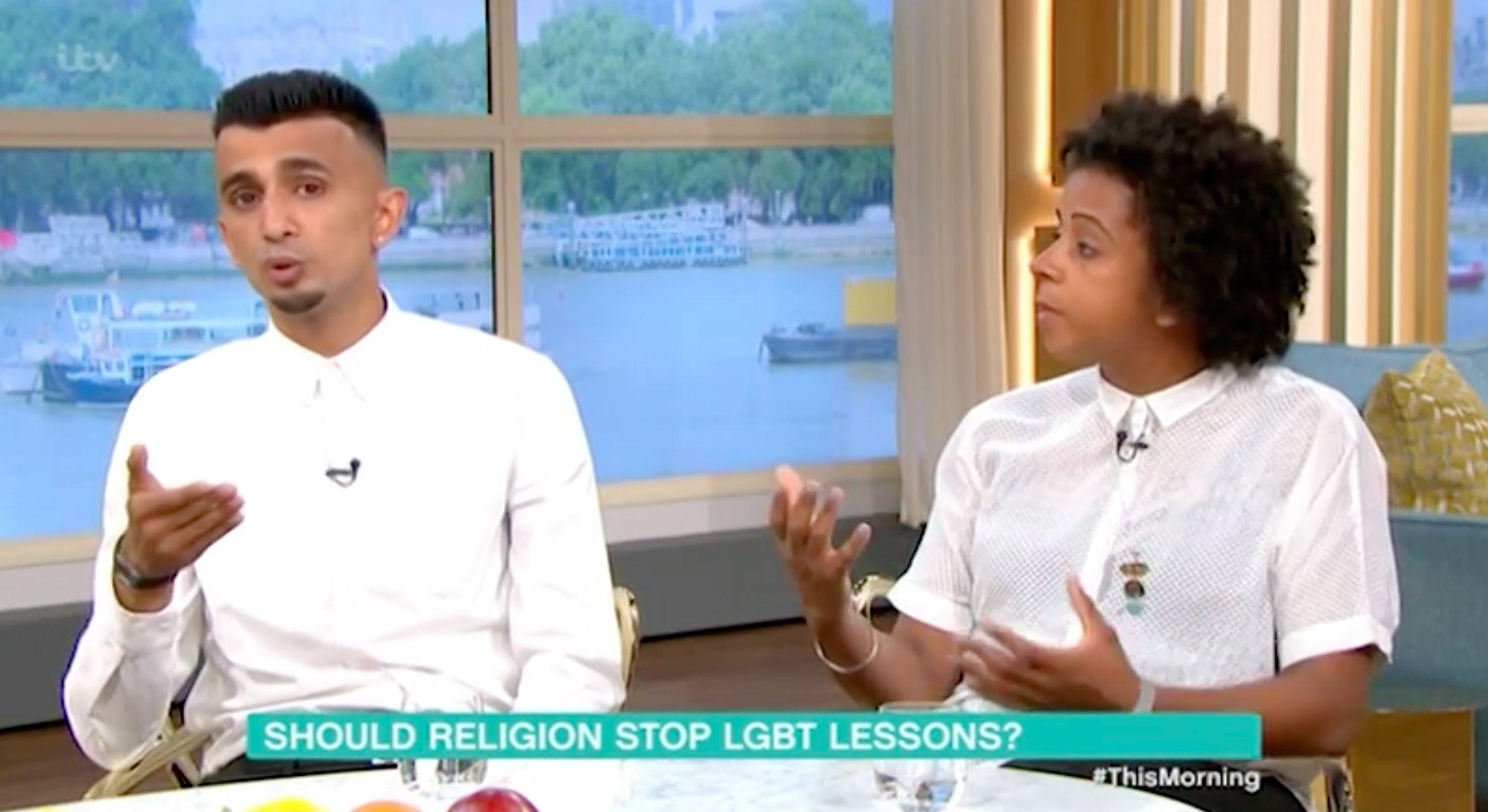 Guest Melissa Thompson described the protests as homophobic (ITV)