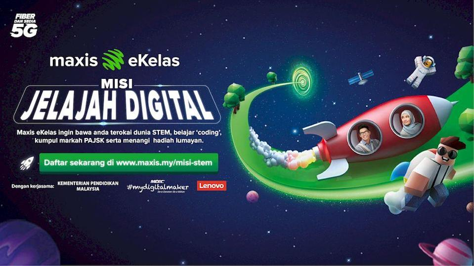 Maxis eKelas kicks off a nationwide STEM contest to foster critical thinking among students. — Picture courtesy of Maxis