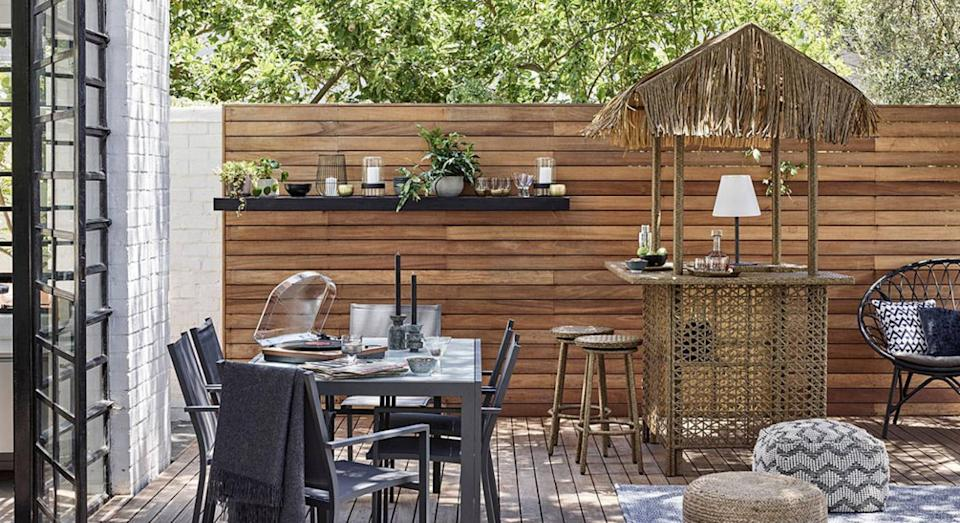 John Lewis is selling a garden tiki bar. (Getty Images)