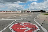 An empty tarmac at Tegel as the curtain comes down after more than 60 years, leaving the site to be converted into a residential area with shops, schools, nurseries and housing