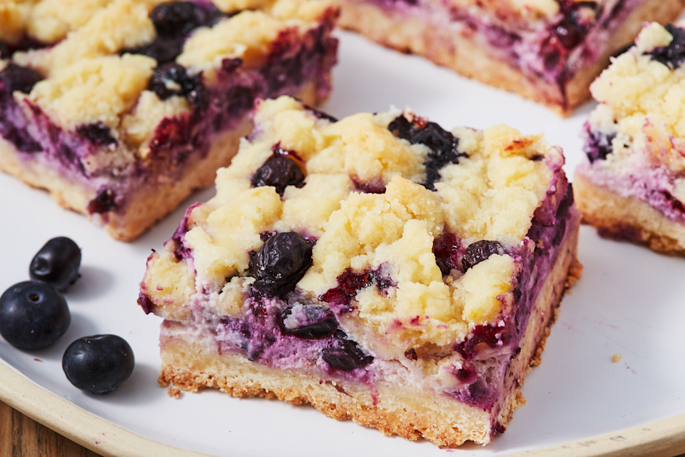 """<p>Ready to dream bigger than classic <a href=""""https://www.delish.com/cooking/recipe-ideas/a32501337/blueberry-pie-recipe/"""" rel=""""nofollow noopener"""" target=""""_blank"""" data-ylk=""""slk:blueberry pie"""" class=""""link rapid-noclick-resp"""">blueberry pie</a>? From <a href=""""https://www.delish.com/cooking/recipe-ideas/g2842/most-delish-cobblers/"""" rel=""""nofollow noopener"""" target=""""_blank"""" data-ylk=""""slk:cobblers"""" class=""""link rapid-noclick-resp"""">cobblers</a> to cookies to cakes and more, these crazy-good blueberry desserts will blow your mind. Besides, berries make these sweets <a href=""""https://www.delish.com/cooking/nutrition/g2615/low-calorie-dessert-recipes/"""" rel=""""nofollow noopener"""" target=""""_blank"""" data-ylk=""""slk:healthy"""" class=""""link rapid-noclick-resp"""">healthy</a>, right? And if you're really feeling summer, you'll also love our <a href=""""https://www.delish.com/cooking/recipe-ideas/g2887/138-no-bake-desserts/"""" rel=""""nofollow noopener"""" target=""""_blank"""" data-ylk=""""slk:no bake desserts"""" class=""""link rapid-noclick-resp"""">no bake desserts</a>.</p>"""