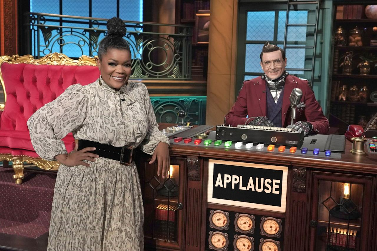 """<p>Hosted by <strong>Community</strong>'s Yvette Nicole Brown, this goofy game show introduces contestants to two people who are supposed experts in the same field of study, and each contestant must ask them a series of questions related to their area of expertise. The challenge: only one of the two """"experts"""" actually knows what they're talking about, and the contestant has to figure out who's doing the fibbing. </p> <p><product href=""""http://www.disneyplus.com/series/the-big-fib/2bnZcZyBeEfx"""" target=""""_blank"""" class=""""ga-track"""" data-ga-category=""""Related"""" data-ga-label=""""http://www.disneyplus.com/series/the-big-fib/2bnZcZyBeEfx"""" data-ga-action=""""In-Line Links"""">Watch <strong>The Big Fib</strong> on Disney+</product>. </p>"""