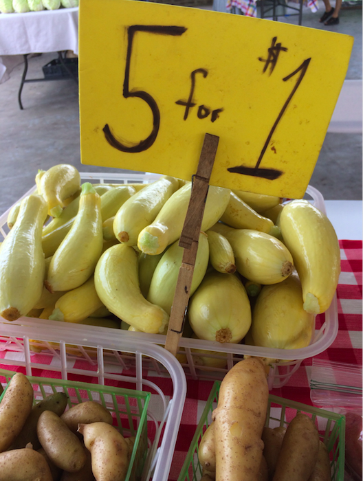 Produce displayed at the Market, June 2017 (Oxford Community Market)