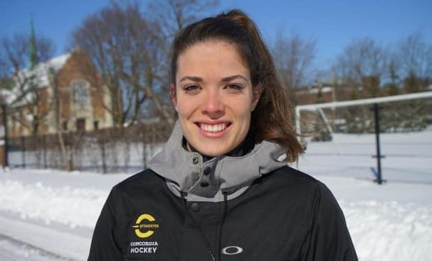Brigitte Laganière was one of 11 academic All-Canadians on the Concordia women's hockey team in 2020.