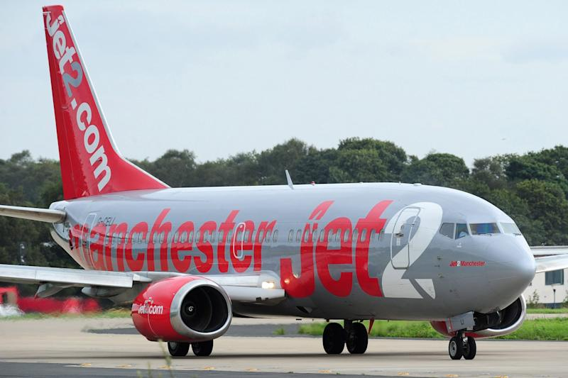 Thrown off: More than 20 stag party revellers were removed from the flight: PA