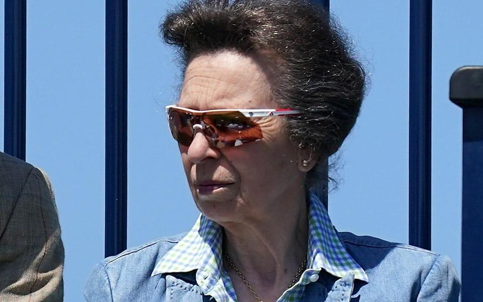 Princess Anne watching The Open last month - PA