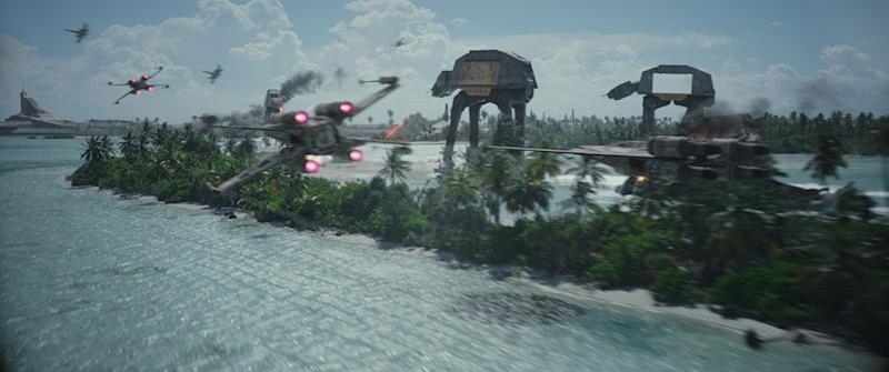 AT-ACTs under attack - Credit: Disney/Lucasfilm
