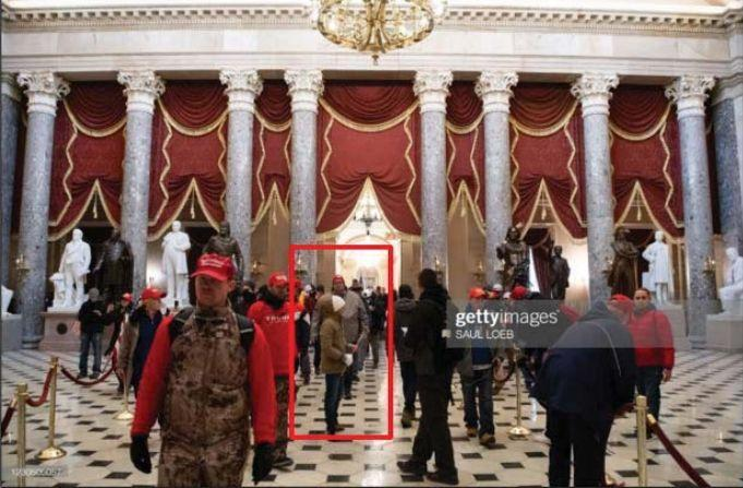 Kevin Strong, identified in this photo used by the FBI in its charging documents, is an FAA employee who was already on the FBI's radar before he stormed the U.S. Capitol. (FBI)
