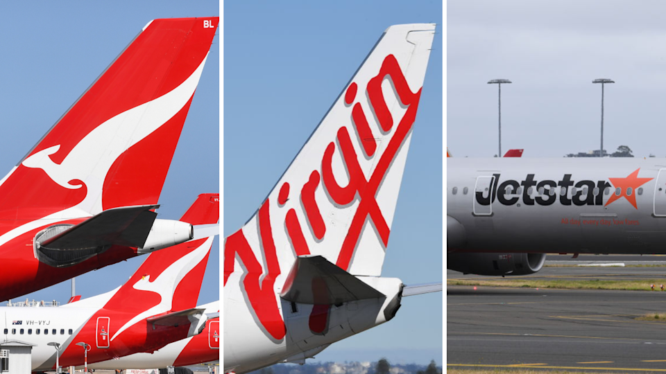 A handful of airlines, including Qantas, Virgin and Jetstar, have outlined their upcoming flight schedules. (Source: Getty)