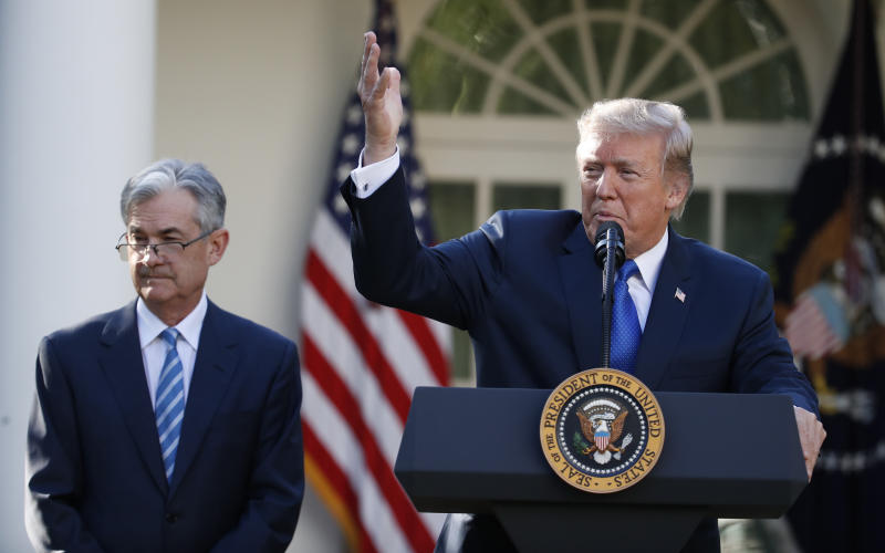 President Donald Trump announces Federal Reserve board member Jerome Powell as his nominee for the next chair of the Federal Reserve in the Rose Garden of the White House in Washington, Thursday, Nov. 2, 2017. (AP Photo/Alex Brandon)