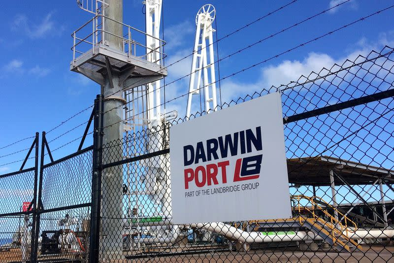 FILE PHOTO: Machinery can be seen sitting at the Port of Darwin, located in the Northern Territory's capital city of Darwin