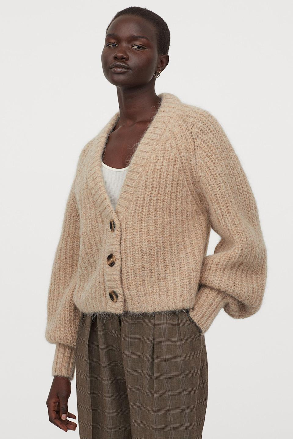 <p>This <span>Knit Wool Cardigan</span> ($60) is the perfect layer for chilly days (or nights).</p>