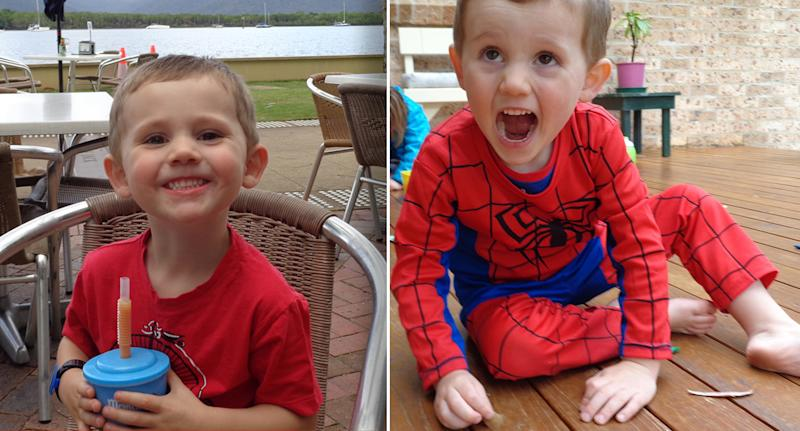 Two supplied images show three year old boy William Tyrrell.