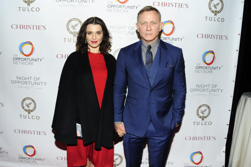 Husband and wife Rachel Weisz and Daniel Craig, last pictured at the The Opportunity Network's 11th Annual Night of Opportunity Gala at Cipriani Wall Street in April 2018. (Getty Images)